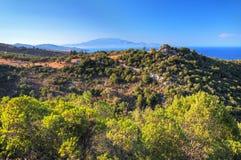 Paisagem grega da ilha Fotografia de Stock