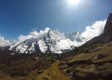 Paisagem Himalaia, picos brancos Imagens de Stock Royalty Free