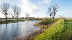 Paisagem holandesa pitoresca Fotografia de Stock