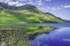 Paisagem idílico do parque nacional do distrito do lago, Cumbria, Reino Unido imagens de stock