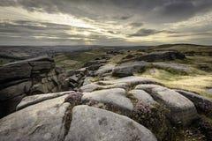 Paisagem id?lico do parque nacional do distrito m?ximo, Derbyshire, Reino Unido foto de stock royalty free
