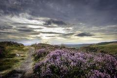 Paisagem id?lico do parque nacional do distrito m?ximo, Derbyshire, Reino Unido imagem de stock