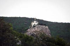 Paisagem, igreja nas montanhas Imagem de Stock Royalty Free