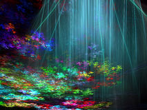Paisagem incomum do fractal - abstraia a imagem digitalmente gerada ilustração do vetor