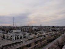 A paisagem industrial imagem de stock royalty free