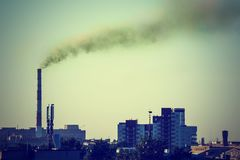 Paisagem industrial com um poder térmico Foto de Stock Royalty Free