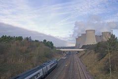 Paisagem industrial moderna no Reino Unido fotografia de stock royalty free