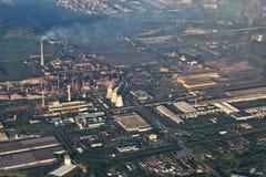 Paisagem industrial no Polônia fotos de stock royalty free