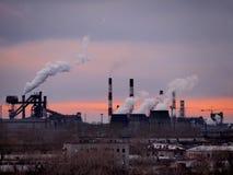 A paisagem industrial plantas fotos de stock