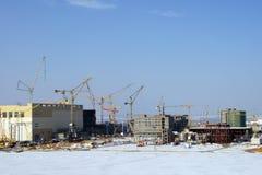 Paisagem industrial urbana do inverno Imagem de Stock