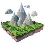 paisagem isolada 3d Fotografia de Stock