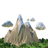 paisagem isolada 3d Imagem de Stock