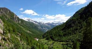 Paisagem Itália da montanha, Domodossola Fotografia de Stock