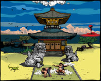 Paisagem japonesa Fotografia de Stock
