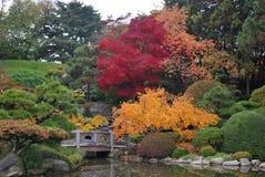 Paisagem japonesa tradicional do jardim Fotos de Stock Royalty Free