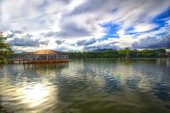 Paisagem - lago Serian Fotografia de Stock
