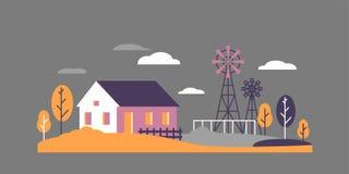 Paisagem lisa da casa de cidade ilustração stock