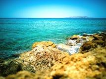 Paisagem litoral da vista Foto de Stock Royalty Free