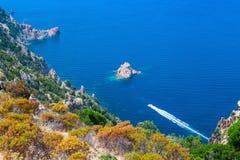 Paisagem litoral de Córsega sul Região de Piana imagem de stock royalty free