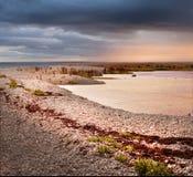 Paisagem litoral de uma ilha pequena fotos de stock royalty free
