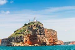 Paisagem litoral do promontório de Kaliakra, Bulgária fotos de stock