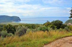 Paisagem litoral em Montenegro foto de stock royalty free