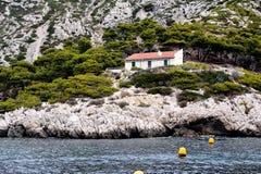 Paisagem litoral entre o cássis e a Marselha Fotografia de Stock Royalty Free