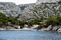 Paisagem litoral entre o cássis e a Marselha Imagens de Stock