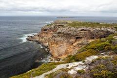 Paisagem litoral na ilha do canguru imagem de stock royalty free