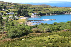 Paisagem litoral, península do Dingle, Irlanda Fotografia de Stock