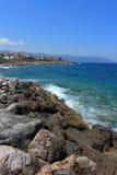 Paisagem litoral perto de Sissi foto de stock royalty free