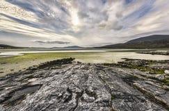 Paisagem litoral selvagem de Harris e de Lewis, Escócia, Grâ Bretanha fotos de stock royalty free