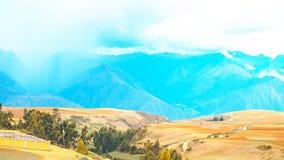 Paisagem longe de Cusco, Peru fotos de stock