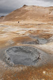 Paisagem lunar em Islândia fotografia de stock