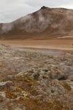 Paisagem lunar em Islândia imagem de stock