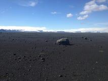 Paisagem lunar na terra Foto de Stock