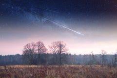 Paisagem místico da lua Foto de Stock