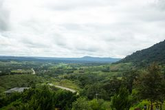 Paisagem majestosa da montanha com nuvem, Tailândia Imagem de Stock Royalty Free