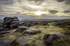 Paisagem majestosa do parque nacional do distrito máximo, Derbyshire, Reino Unido fotos de stock