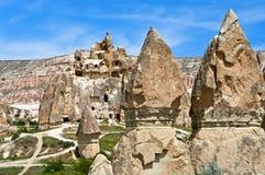 Paisagem maravilhosa da montanha em Cappadocia, Turquia fotografia de stock