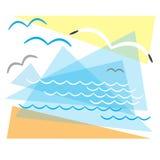 Paisagem marinha Foto de Stock