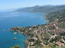 Paisagem mediterrânea fotografia de stock