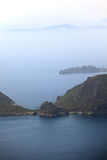 Paisagem mediterrânea. Console de Corfu, Greece. Fotos de Stock Royalty Free