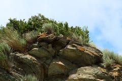 A paisagem montanhosa Fotografia de Stock