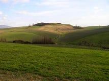 A paisagem montanhosa em torno do Balze del Valdarno, Tosc?nia fotografia de stock royalty free