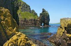 Uma paisagem marítima vibrante. Fotografia de Stock Royalty Free