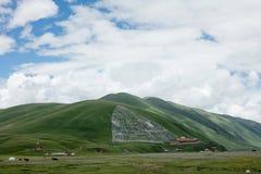 Paisagem na estrada de Sichuan em China Fotos de Stock Royalty Free