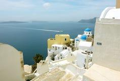 Paisagem na ilha de Santorini Fotografia de Stock Royalty Free