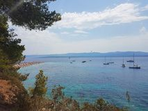 Paisagem na ilha do brac, Croácia imagens de stock royalty free
