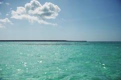 Paisagem na lagoa azul Foto de Stock